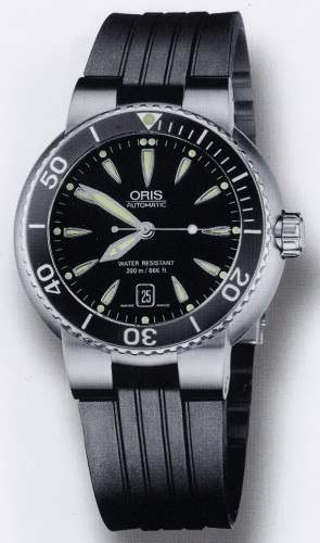 Genuine Oris Stainless Steel Bracelets And Rubber Watch
